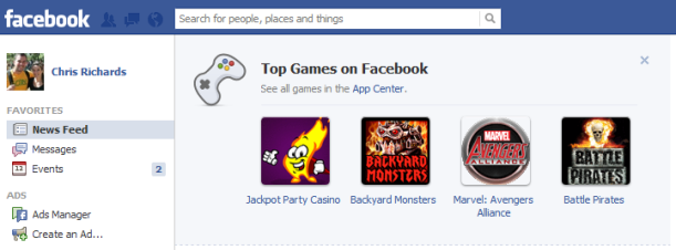 Facebook annoying games ad