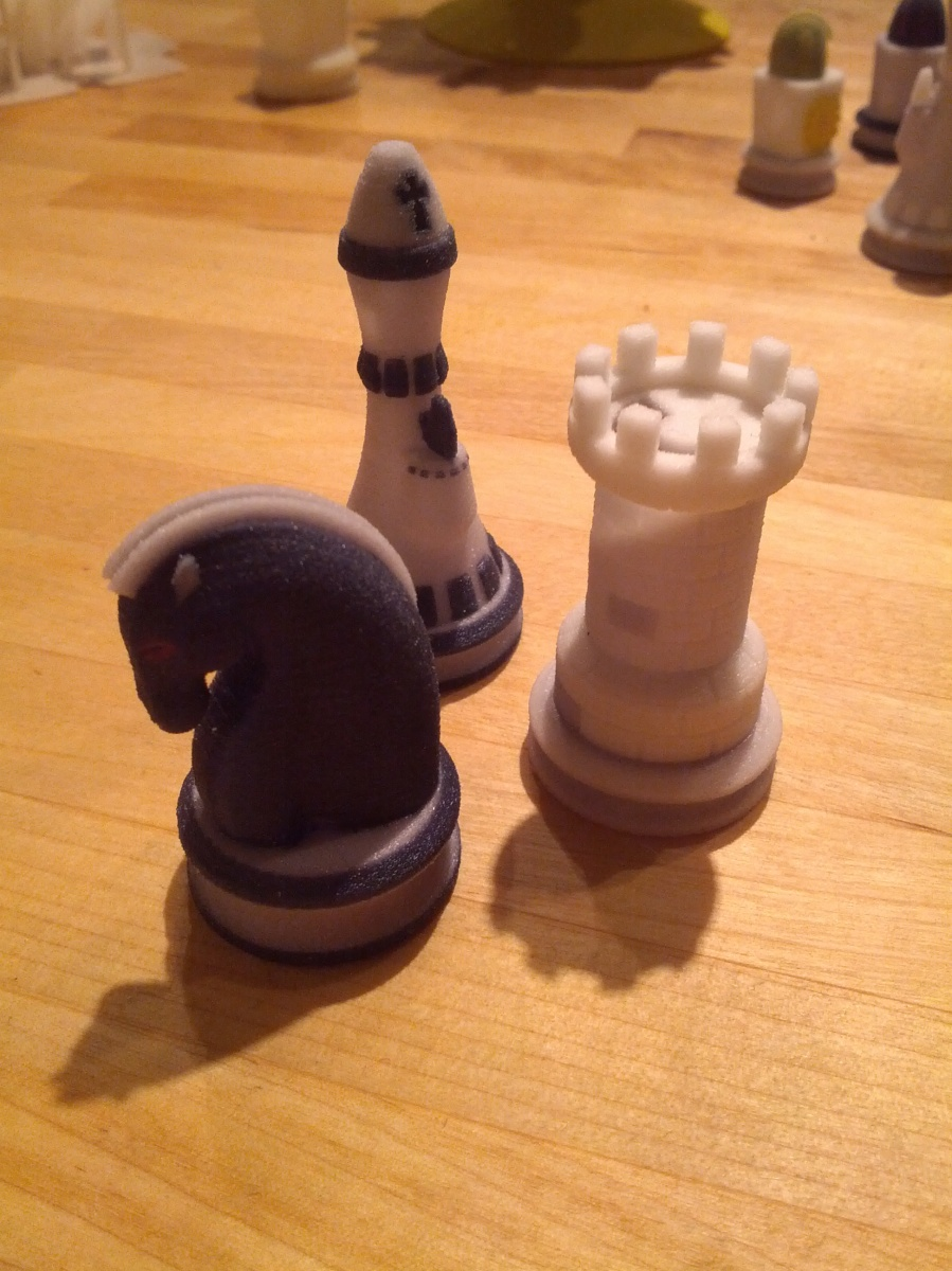 3D Printed chess pieces at DesignPoint